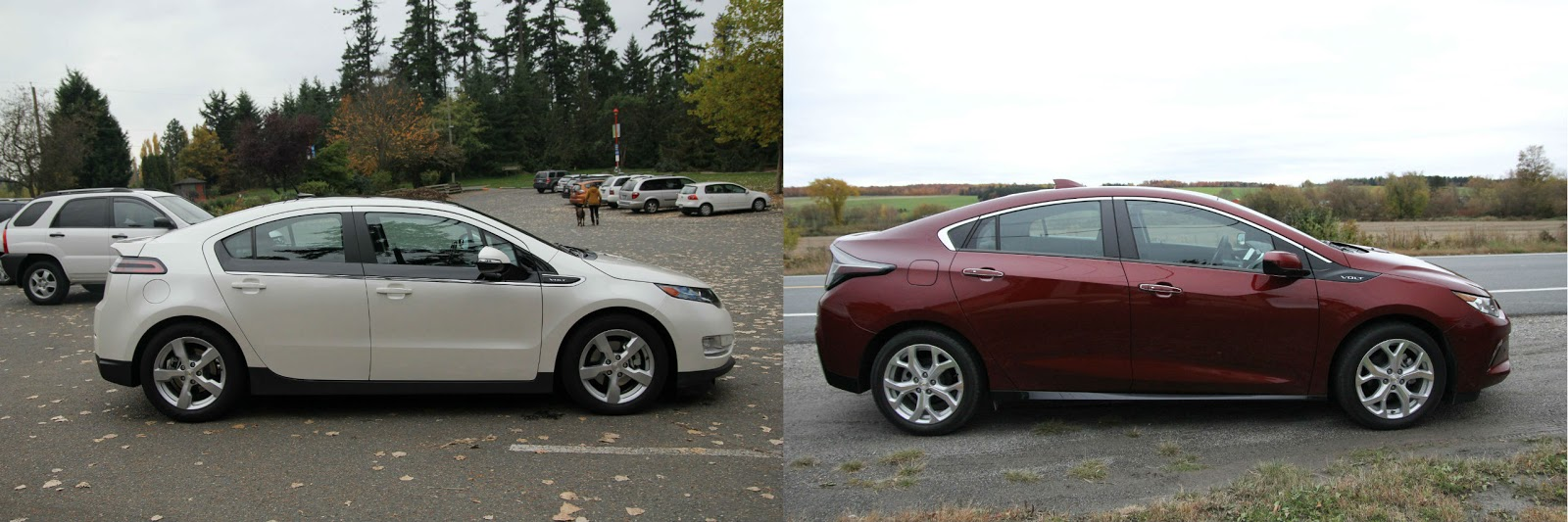 2011 Vs 2016 Chevy Volt A Photo Comparison Dustin B My Ev Gas Side View Rear Hatch Of Vehicle Is Very Different Tank Cap Has Moved Significantly Door Completely