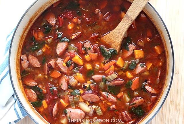 Smoked Sausage & Vegetable Soup