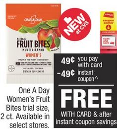 One A Day Women's Fruit Bites 2ct Trial-Size