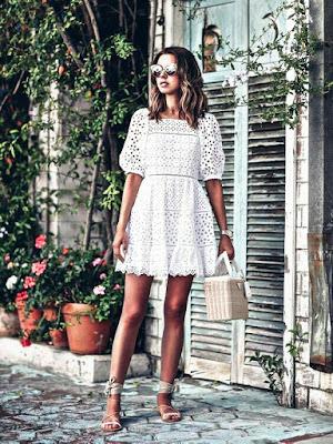 Bordado inglés - Tendencia de moda 2019
