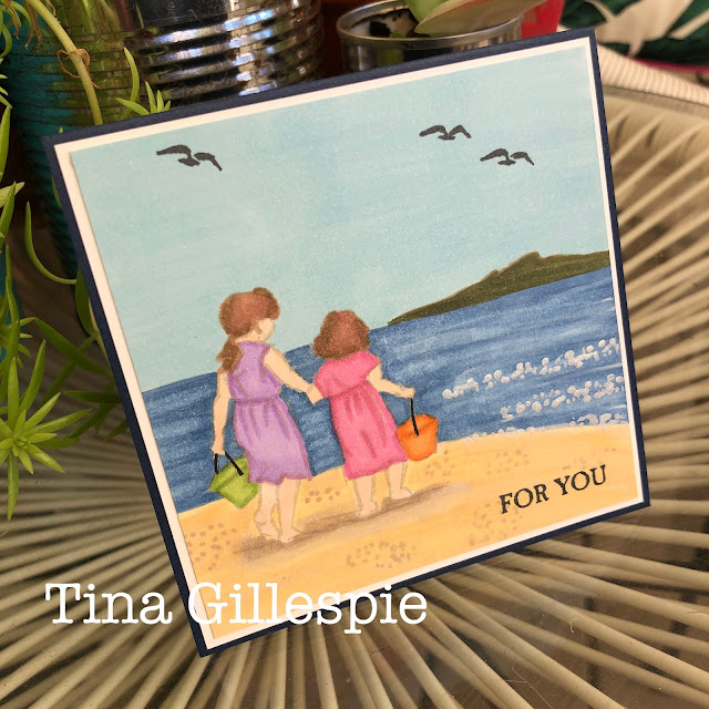 scissorspapercard, Stampin' Up!, Creative Showcase, Beautiful Moments, A Good Guy, Stampin' Blends, Shimmer Paint