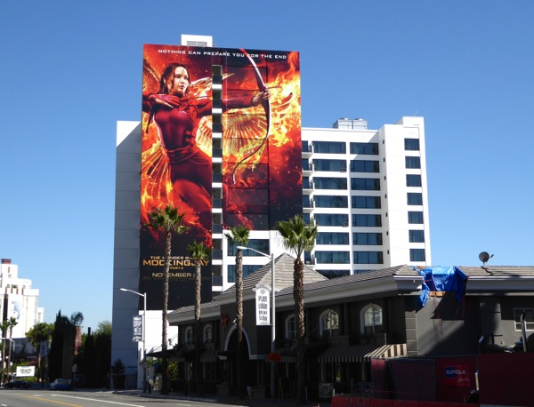 Giant Hunger Games Mockingjay 2 movie billboard