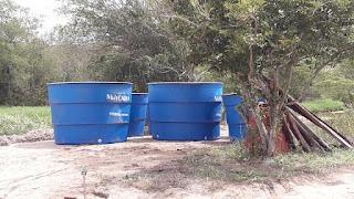 Em Picuí, caixas d'água chegam as comunidades rurais beneficiadas com sistemas de dessalinização de água