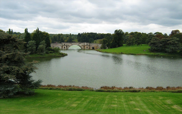 View of part of Blenheim Palace's landscape by Capability Brown.