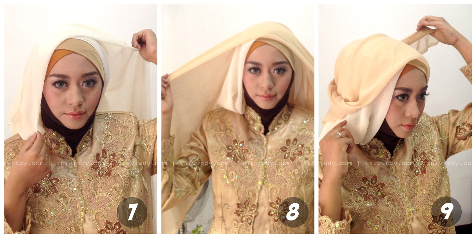 27 Kumpulan Tutorial Hijab Pesta Ala India Paling Baru Tutorial