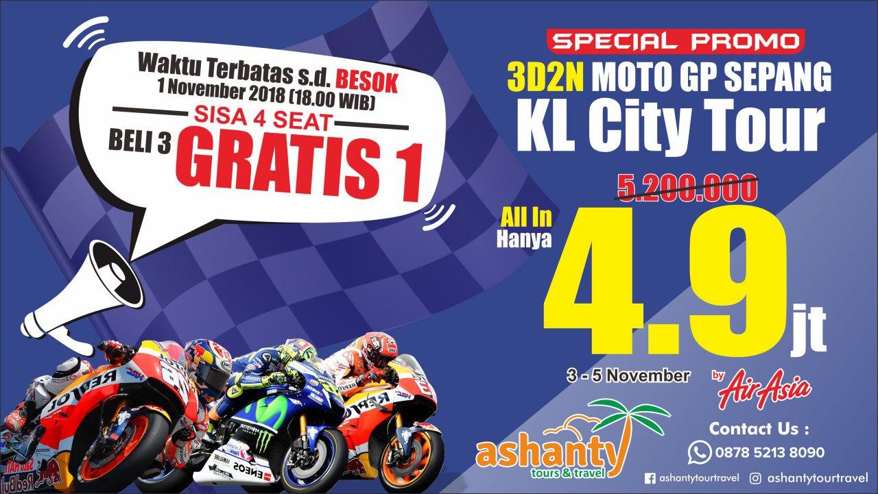paket tour motogp sepang 2019 dari surabaya, harga paket tour motogp sepang 2019, paket nonton motogp sepang 2019