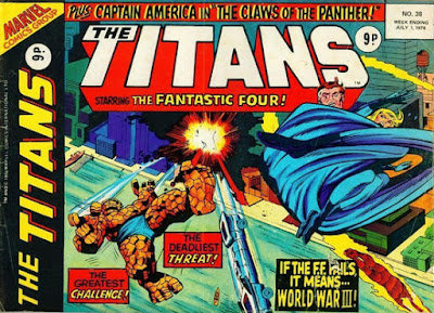 Marvel UK, The Titans #38, the Fantastic Four