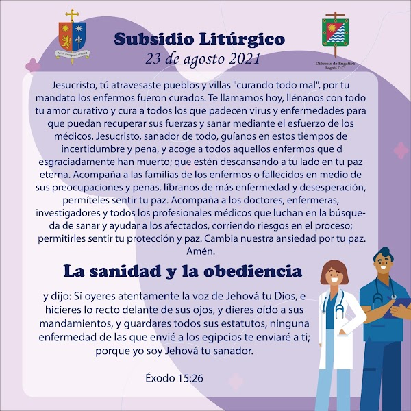 subsidio litúrgico 23 de agosto 2021