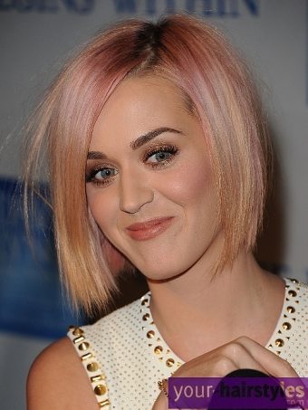 Tremendous New Choppy Bob Hairstyle For Katy Perry 99 Hairstyles And Haircuts Hairstyles For Men Maxibearus