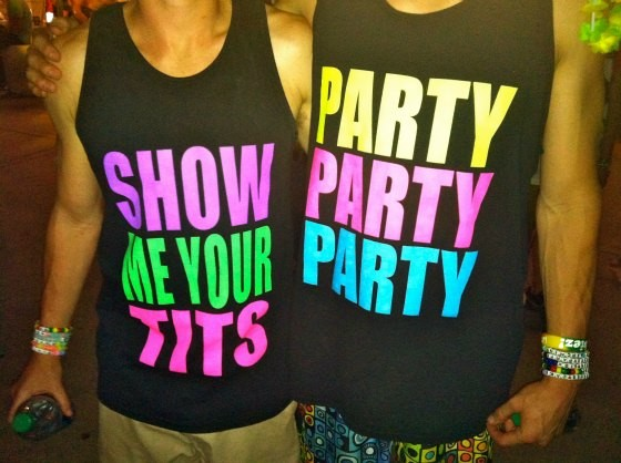 'SHOW ME YOUR TITS' PARTY t-shirt. PYGOD.COM