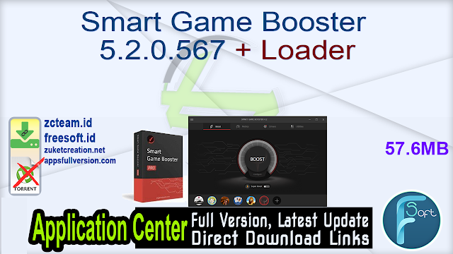 Smart Game Booster 5.2.0.567 + Loader_ ZcTeam.id