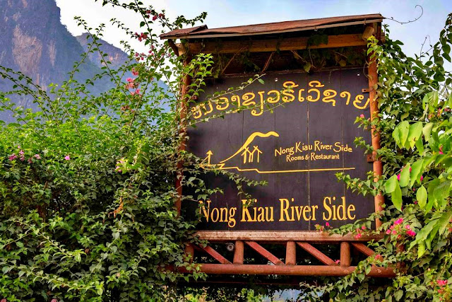 the welcome sign of Nong Kiau Riverside