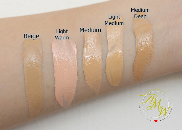 a swatch photo of Pink Sugar Our Lil' Secret Foundation Beige, Light Warm,  Medium, Light Medium and Medium Deep