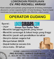 Lowongan Pekerjaan di CV. Pro Rochell Variasi Surabaya Desember 2019