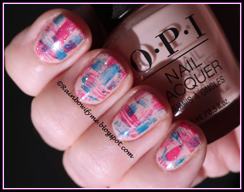 Orly Shine On Crazy Diamond; OPI: Bubble Bath, Trip-i-cal-i-fiji-istic and That's Berry Daring