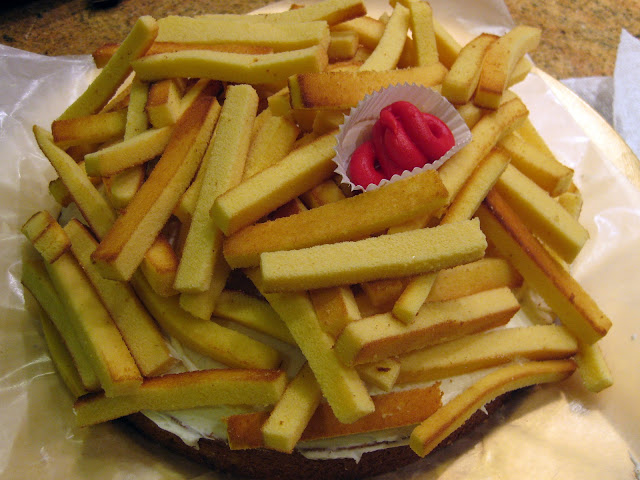 french fry cake