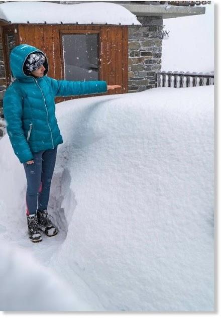 Πάνω από ένα μέτρο φρέσκο χιόνι στις Άλπεις ( photos& video)