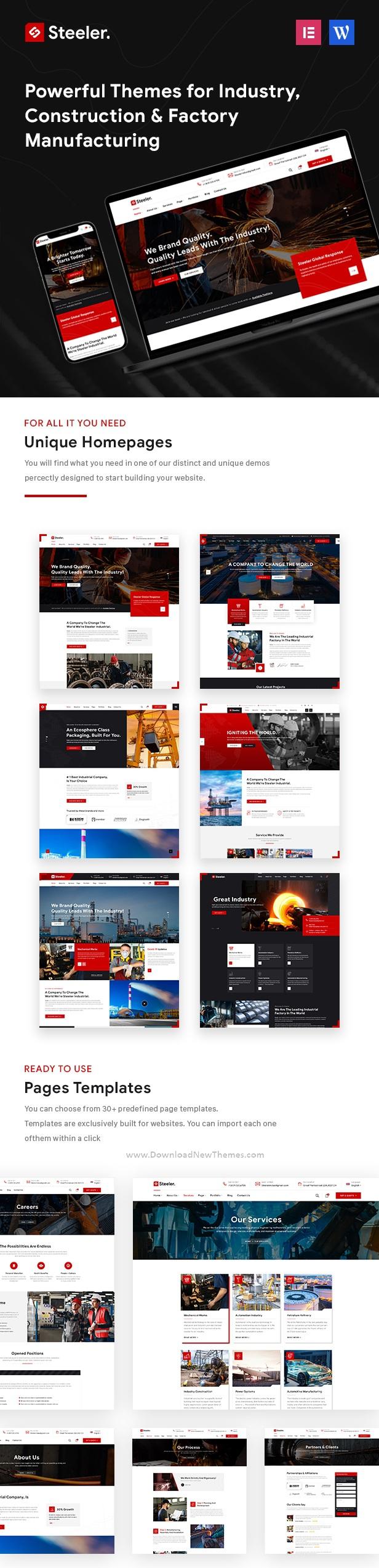 Industrial & Manufacturing WordPress Theme