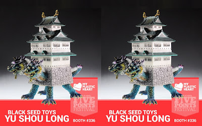 Five Points Festival 2018 Exclusive Yu Shou Long Vinyl Figure by Black Seed Toys x myplasticheart