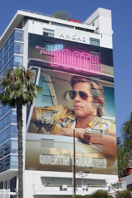 Brad Pitt Cliff Booth Once Upon a Time in Hollywood billboard