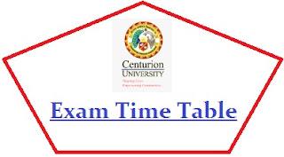 Centurion University Exam Date Sheet 2020