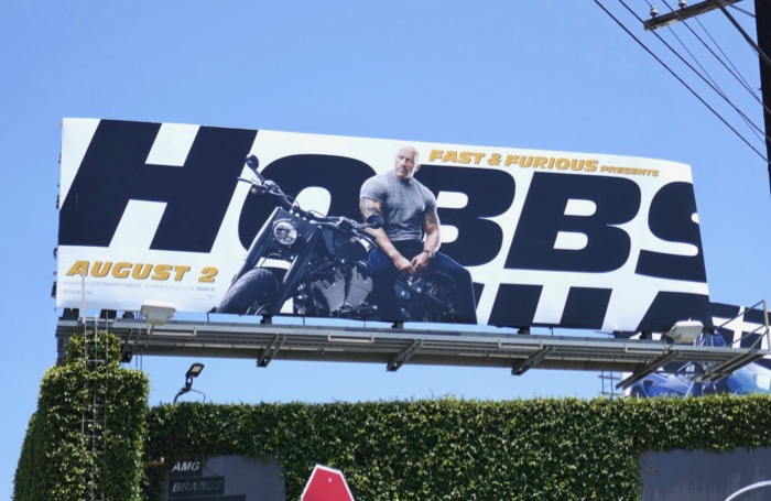 Dwayne Johnson Hobbs & Shaw movie billboard