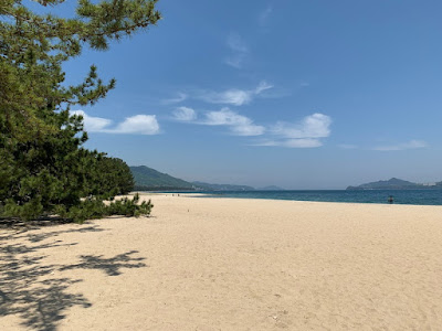 天橋立の砂浜