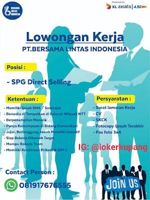 Lowongan Kerja PT. Bersama Lintas Indonesia (XL Axiata) Sebagai SPG Direct Selling