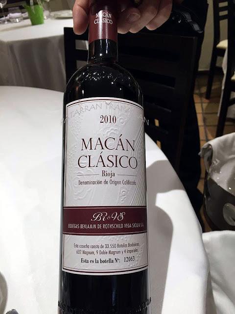 Macán Clásico 2010. Un Rioja de Vega Sicilia.