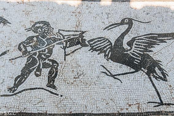 Mosaico del Edificio de Neptuno, Itálica, la ciudad romana de Sevilla