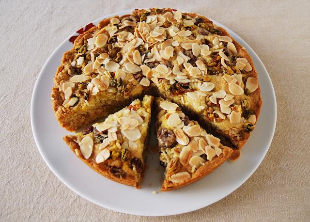 Gâteau à l'amande et aux fruits secs