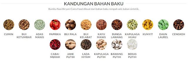 kandungan-bahan-baku-bumbu-biryani-cairo-food