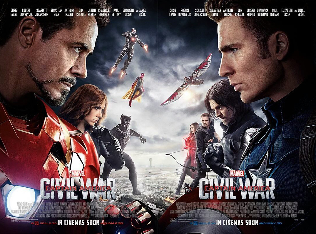 Movies 2016 Posters: CAPTAIN AMERICA: CIVIL WAR #TeamCap And #TeamIronMan Movie