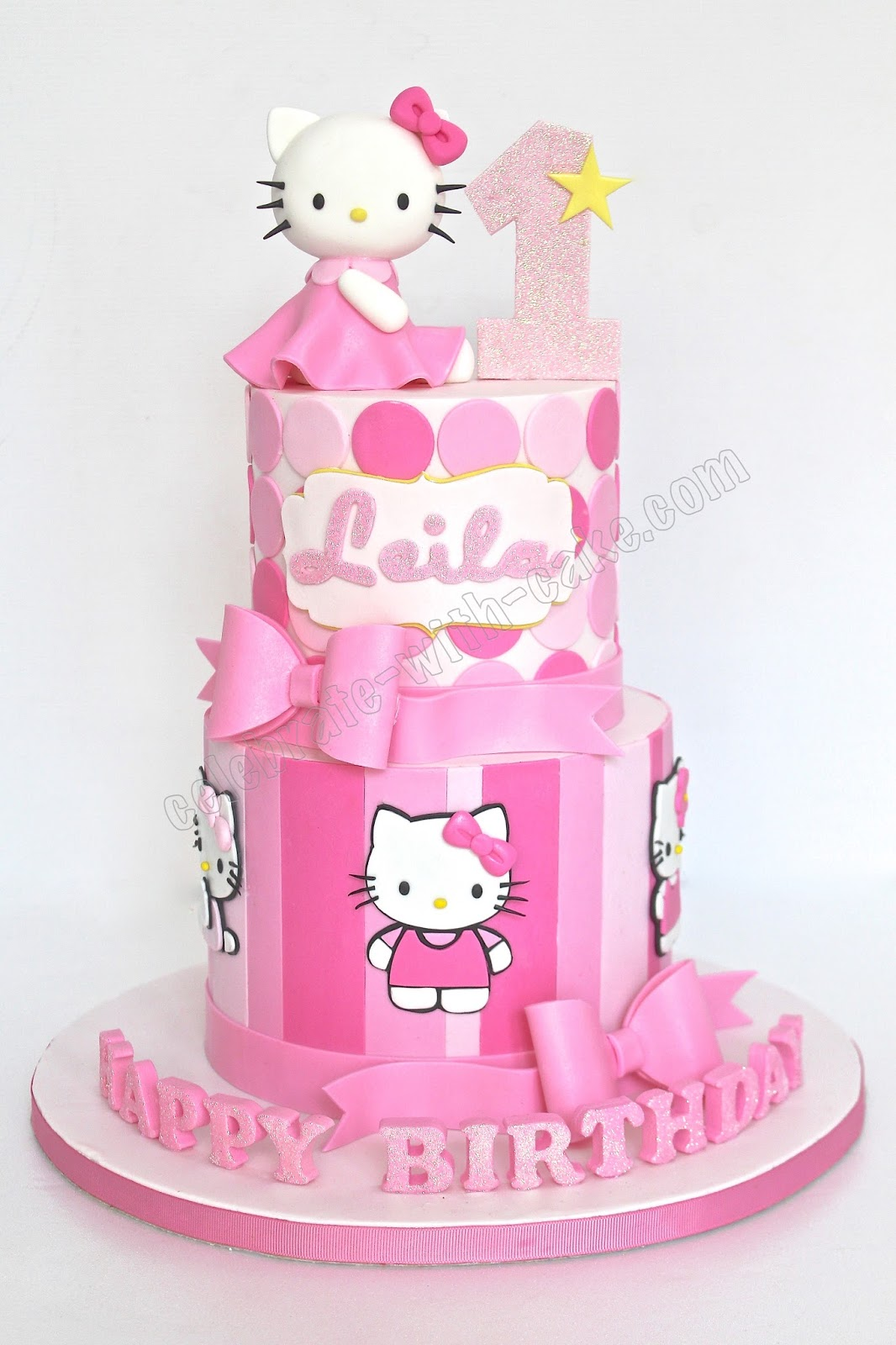 Celebrate With Cake Hello Kitty 2 Tiers