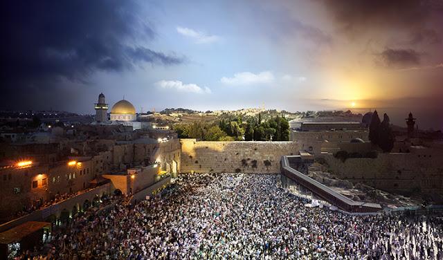 Dia e Noite capturados simultaneamente em Israel