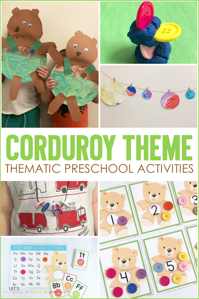 Corduroy Themed Preschool Activities for Kids | Lets Play ...
