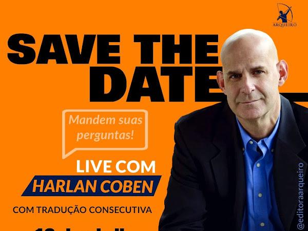 [Atualizada] Live exclusiva com Harlan Coben