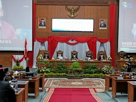 DPRD kabupaten Muaro Jambi Gelar Paripurna Mengikuti Pidato Kenegaraan Presiden Republik Indonesia