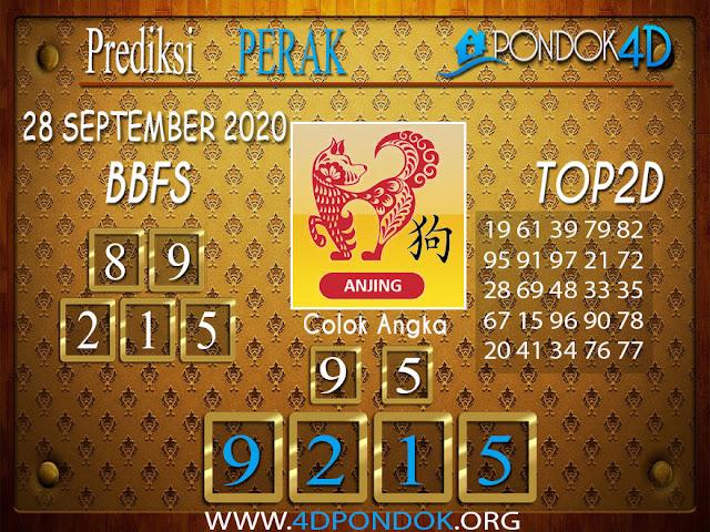Prediksi Togel PERAK PONDOK4D 28 SEPTEMBER 2020