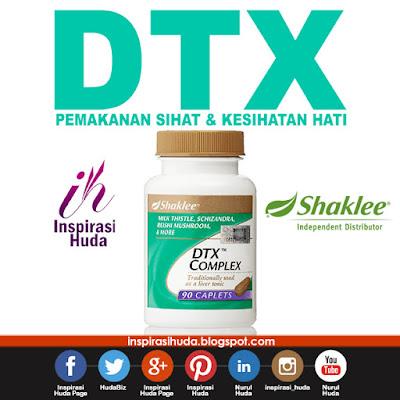 dtx, dtx complex, shaklee, kesihatan hati, produk, suplemen, vitamin, inspirasihuda