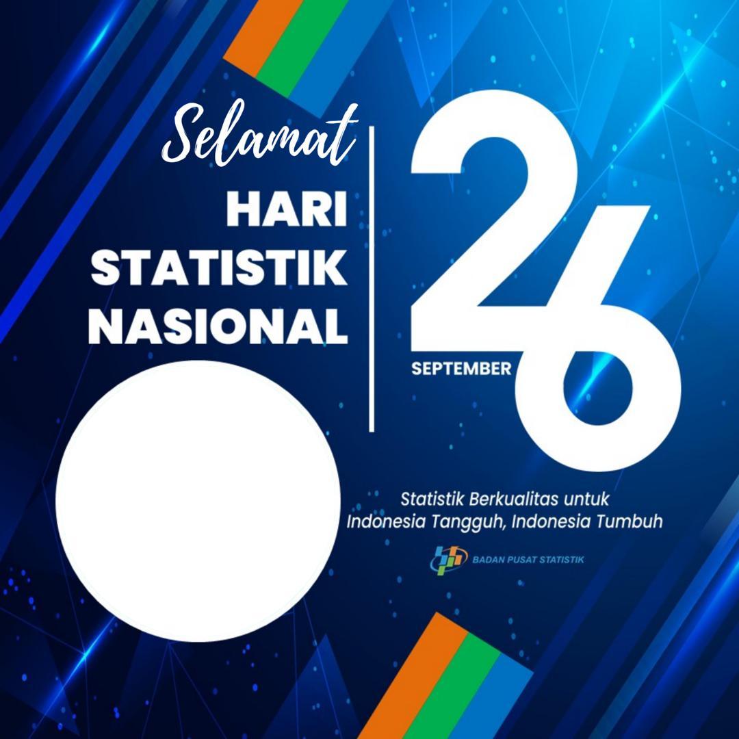 Template Frame Bingkai Foto Twibbon Hari Statistik Nasional 26 September 2021