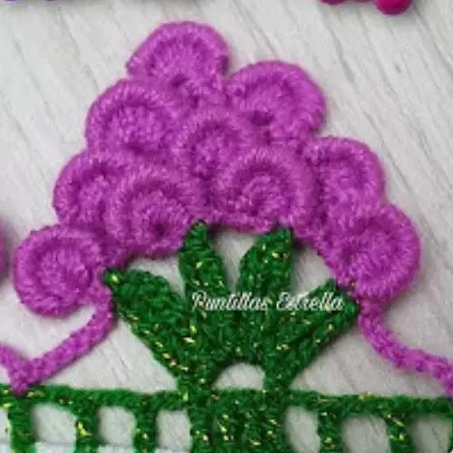 Puntilla uvas a crochet