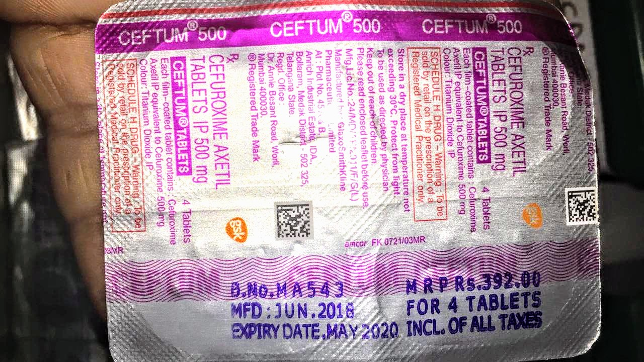 Ceftum 500 (Cefuroxime)   dosage, uses, price, side effect