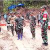 Mayjen TNI Surawahadi, Meninjau Langsung Dilokasi TMMD di Kec Tompobulu, Maros