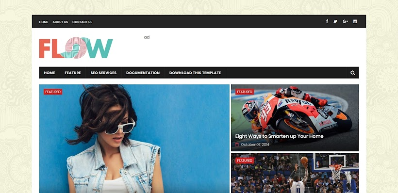 Flow Magazine Free Blogger Template