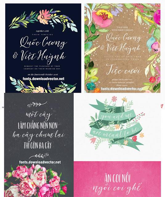Fonts thiết kế thiệp cưới miễn phí