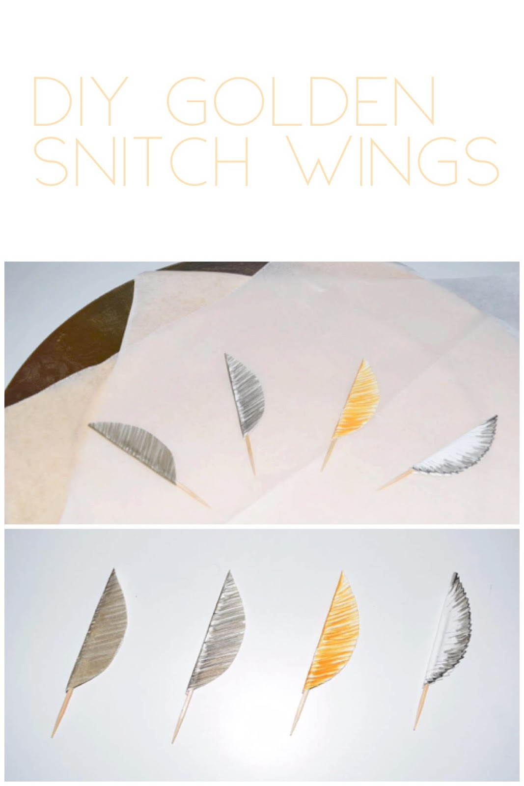 picture about Golden Snitch Printable referred to as Do it yourself Golden Snitch Wings
