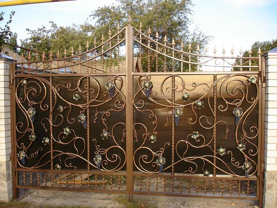 Кованые ворота решетки