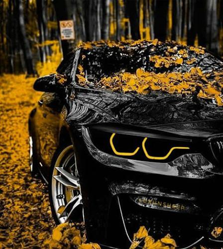 Modifikasi mobil BMW warna hitam terbaru