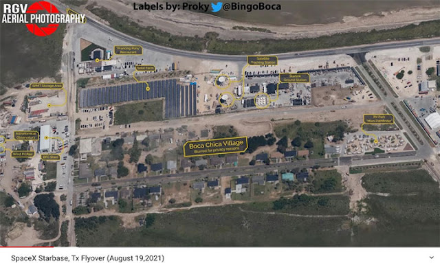 Aerial image showing Boca Chica Village (Source: @RGV Aerial Photography)